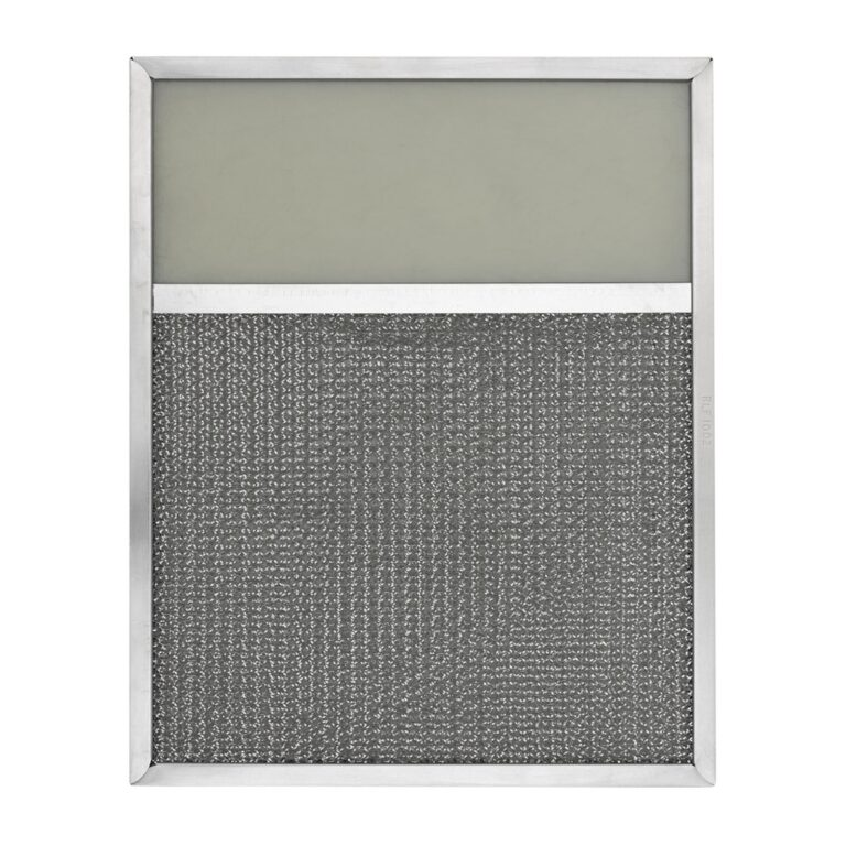 RLF1002 Aluminum Grease Filter with Light Lens for Ducted Range Hood   4″ Lens