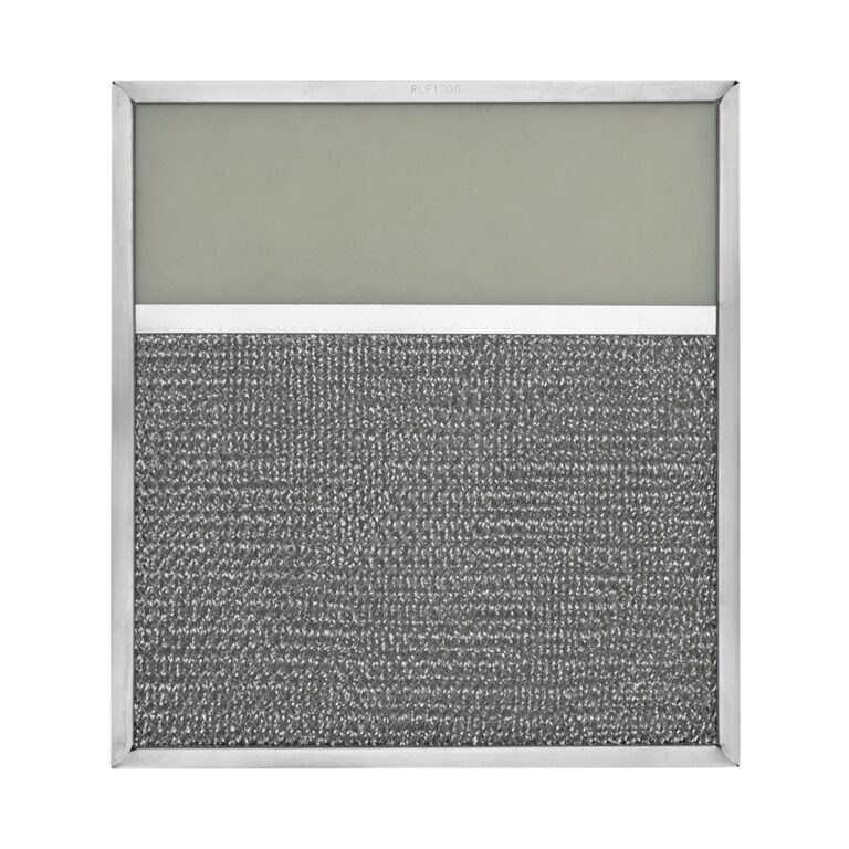 RLF1006 Aluminum Grease Filter with Light Lens for Ducted Range Hood   4″ Lens