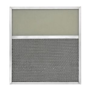 RLF1108 Aluminum Grease Filter with Light Lens for Ducted Range Hood   4-1/2″ Lens
