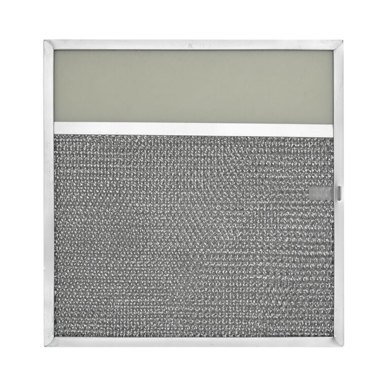 RLF1114 Aluminum Grease Filter with Light Lens for Ducted Range Hood | 3-1/4″ Lens with Pull Tab