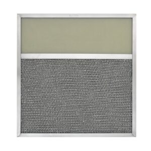 RLF1124 Aluminum Grease Filter with Light Lens for Ducted Range Hood   4″ Lens