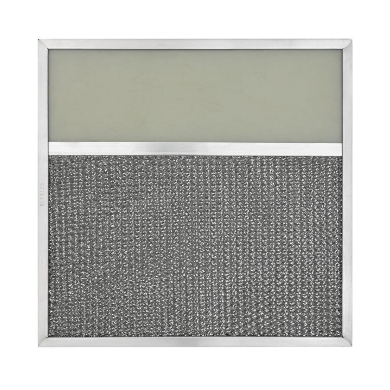 RLF1125 Aluminum Grease Filter with Light Lens for Ducted Range Hood   4″ Lens
