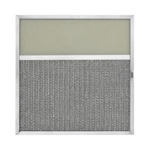RLF1128 Aluminum Grease Filter with Light Lens for Ducted Range Hood | 4″ Lens | with Pull Tab