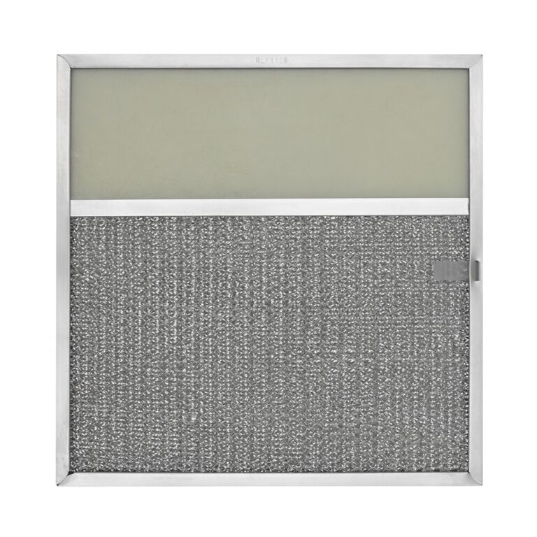 RLF1128 Aluminum Grease Filter with Light Lens for Ducted Range Hood   4″ Lens   with Pull Tab