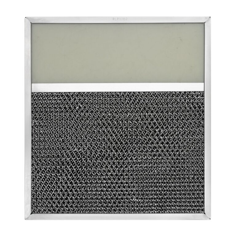 RLP1002 Aluminum/Carbon Grease and Odor Filter with Light Lens for Non-Ducted Range Hood   4″ Lens
