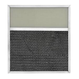 RLP1003 Aluminum/Carbon Grease and Odor Filter with Light Lens for Non-Ducted Range Hood   4″ Lens